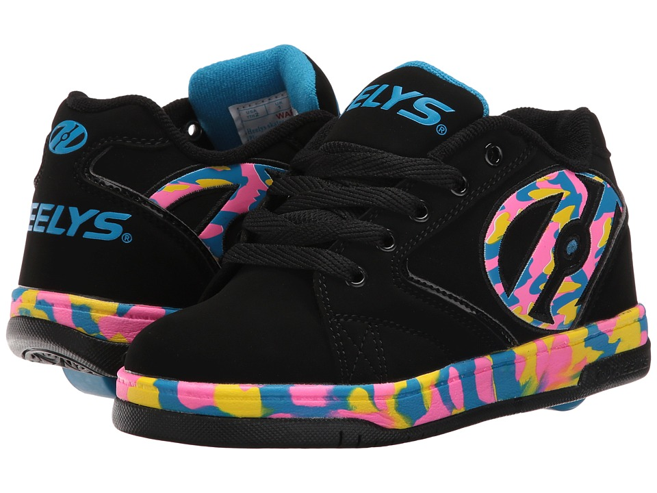 Heelys Propel 2.0 (Little Kid/Big Kid/Adult) (Black/Pink/Blue/Confetti) Girls Shoes
