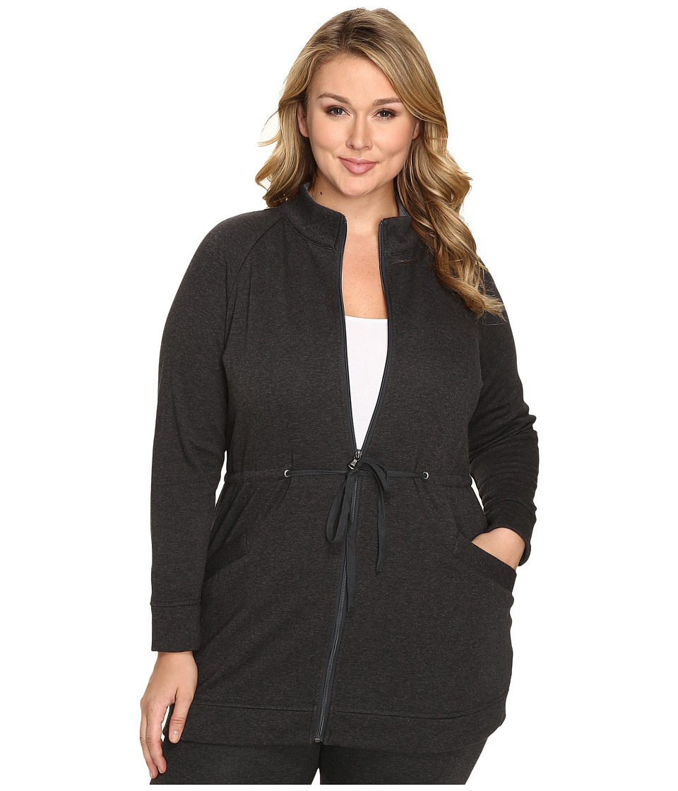 UGG - Plus Size Raleigh Jacket (Black Bear Heather) Women's Coat