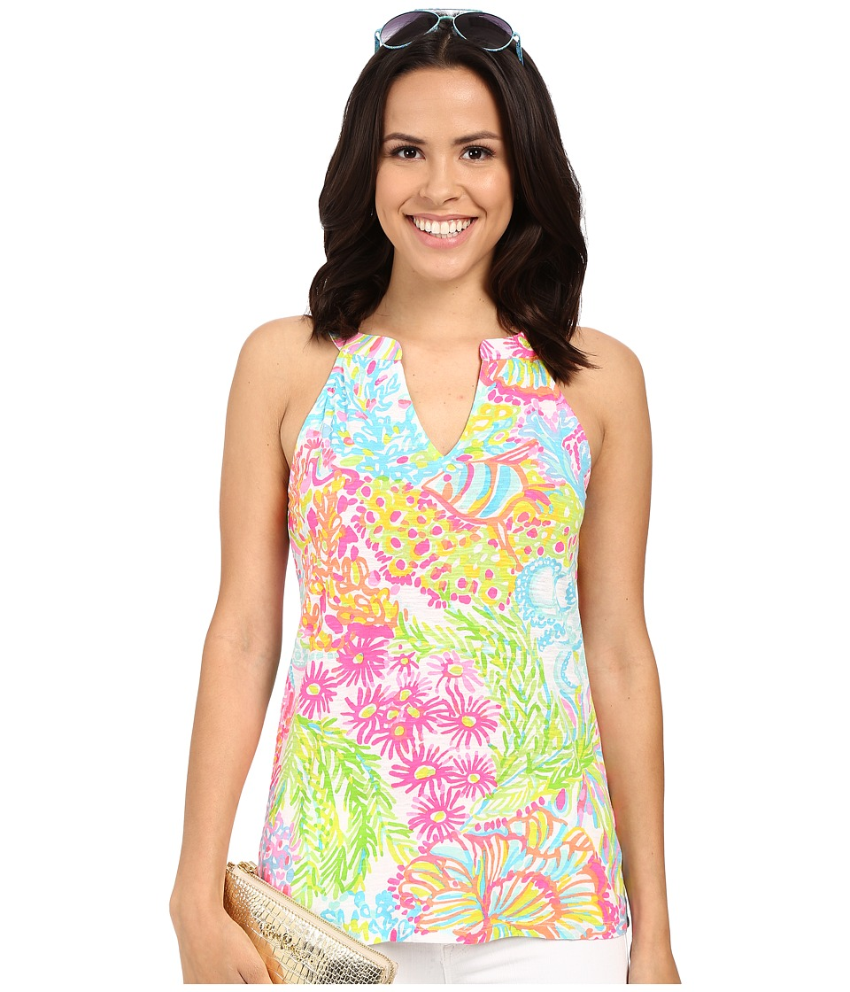 Lilly Pulitzer - Arya Tank Top (Multi Lovers Coral) Women's Sleeveless