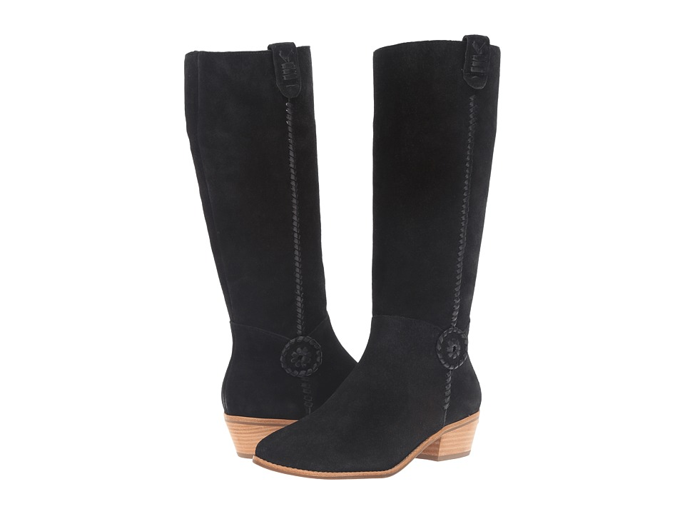 Jack Rogers - Sawyer (Black Suede) Women's Zip Boots