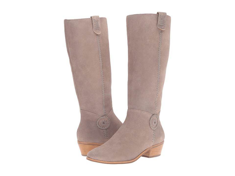 Jack Rogers - Sawyer (Light Grey Suede) Women's Zip Boots