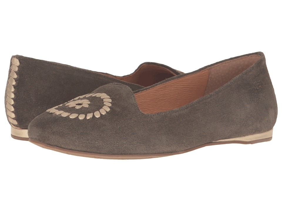 Jack Rogers - Rebecca Suede (Olive) Women's Flat Shoes