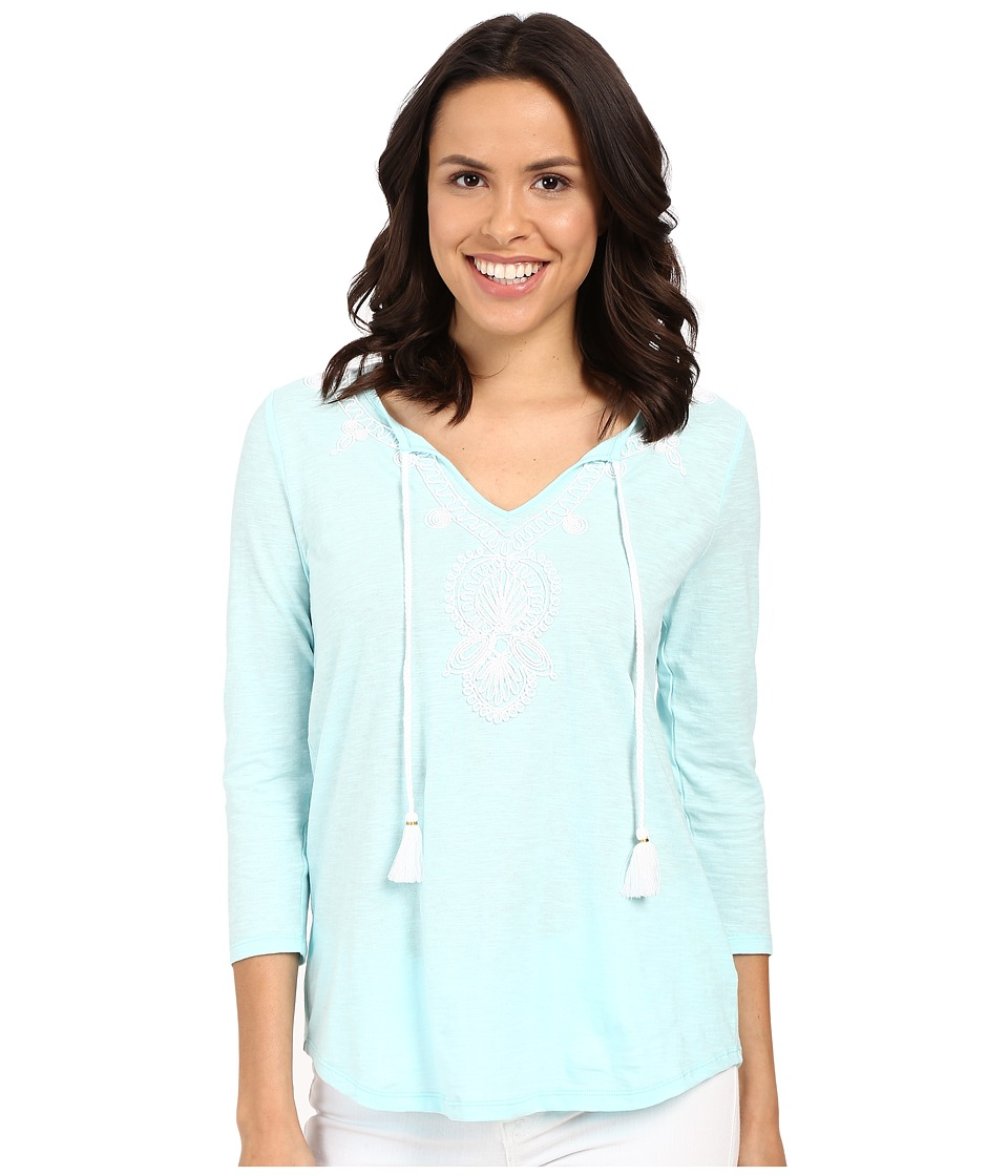 Lilly Pulitzer - Holly Top (Pool Blue) Women's Clothing