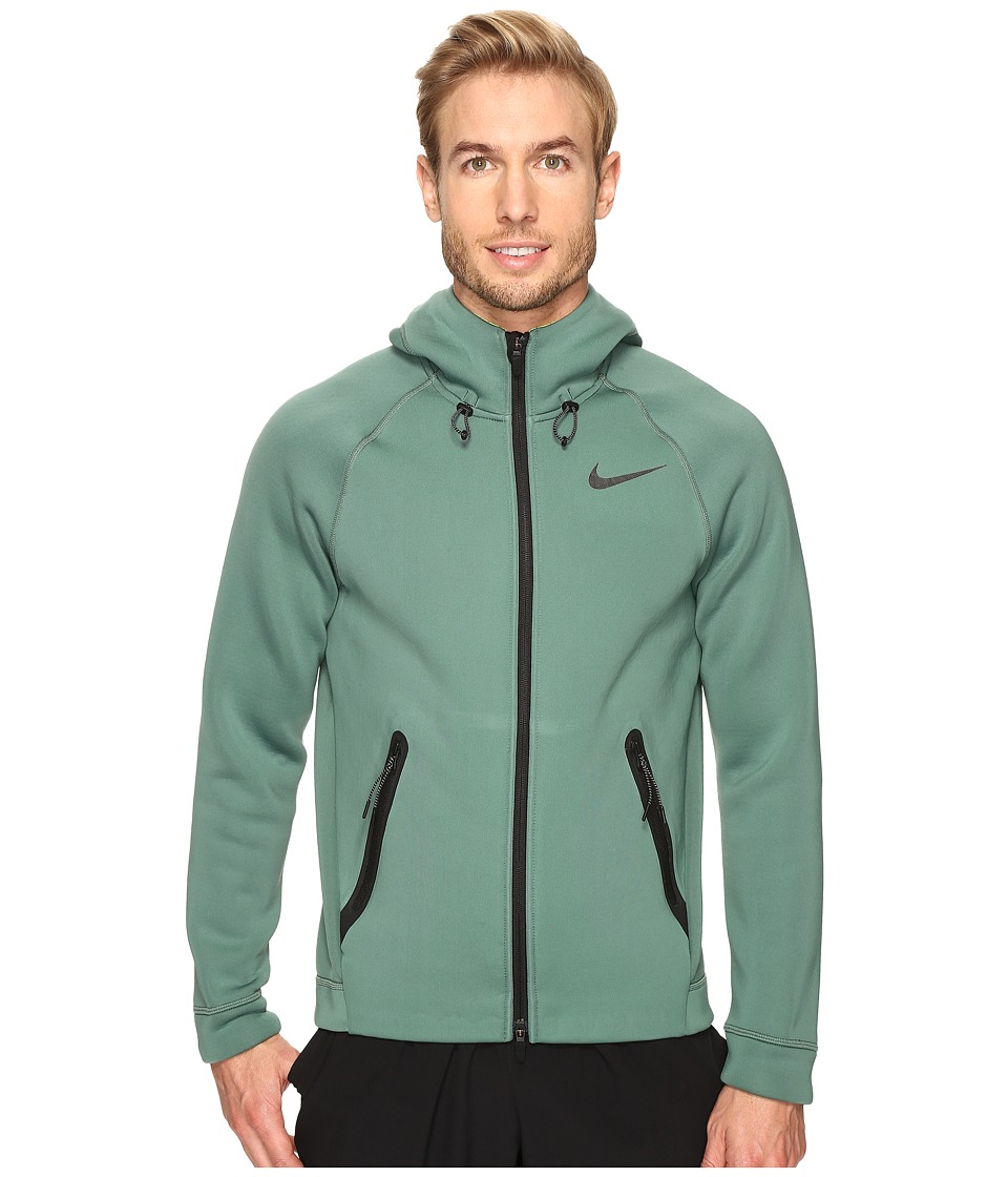 Nike - Therma-Sphere Max Training Hoodie (Green Stone/Volt/Black) Men's Sweatshirt