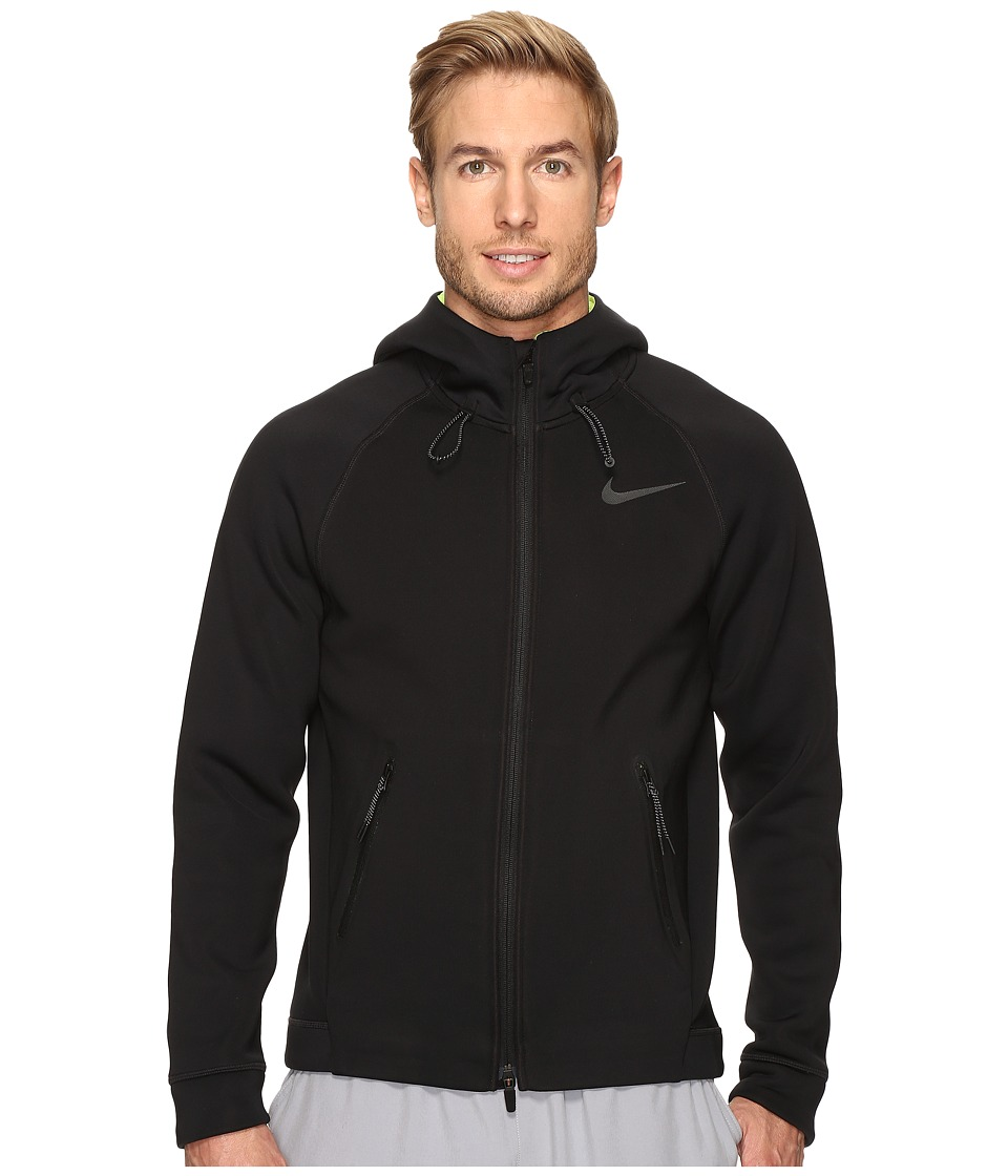 Nike - Therma-Sphere Max Training Hoodie (Black/Volt/Black) Men's Sweatshirt
