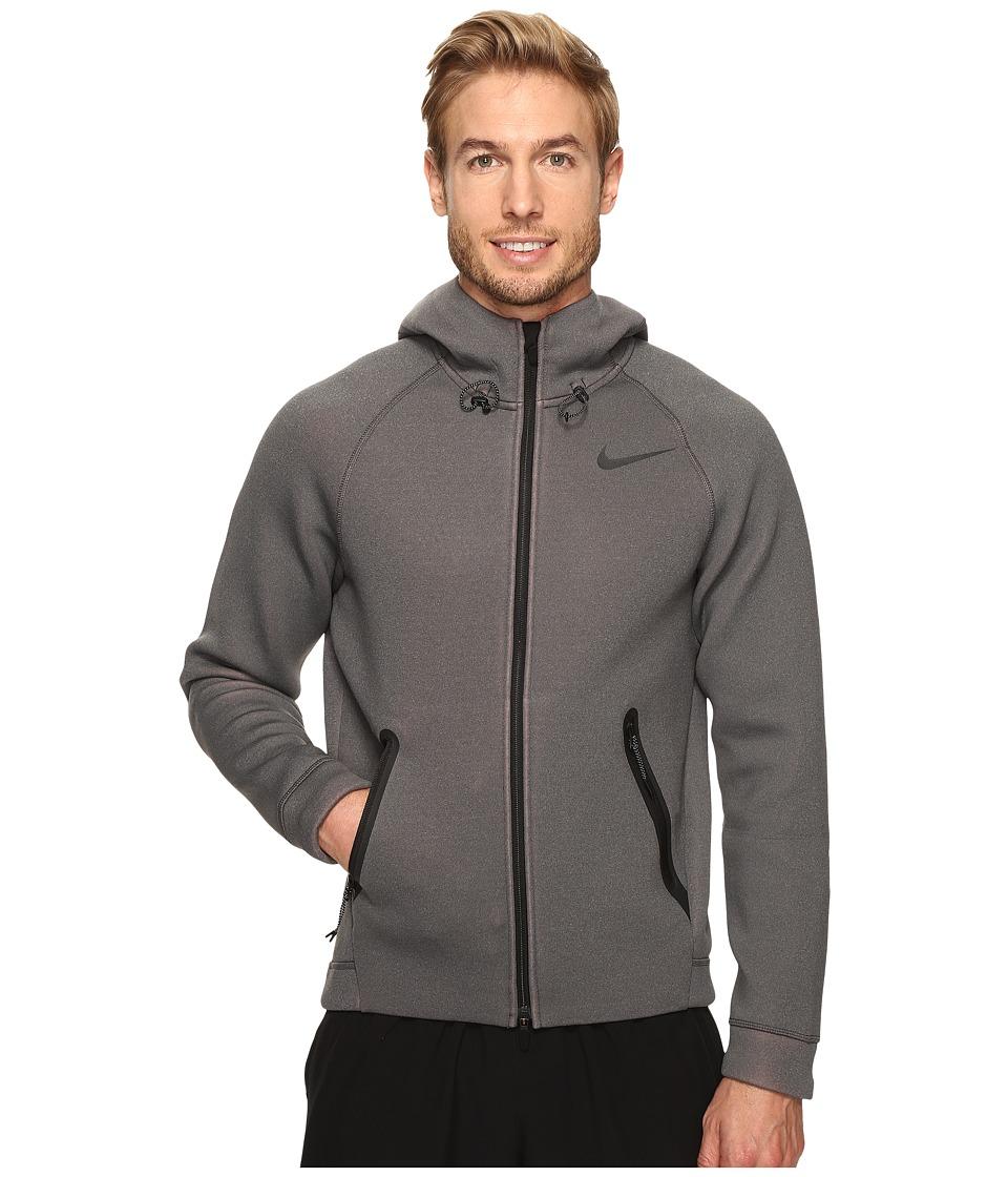 Nike - Therma-Sphere Max Training Hoodie (Charcoal Heather/Total Orange/Black) Men's Sweatshirt