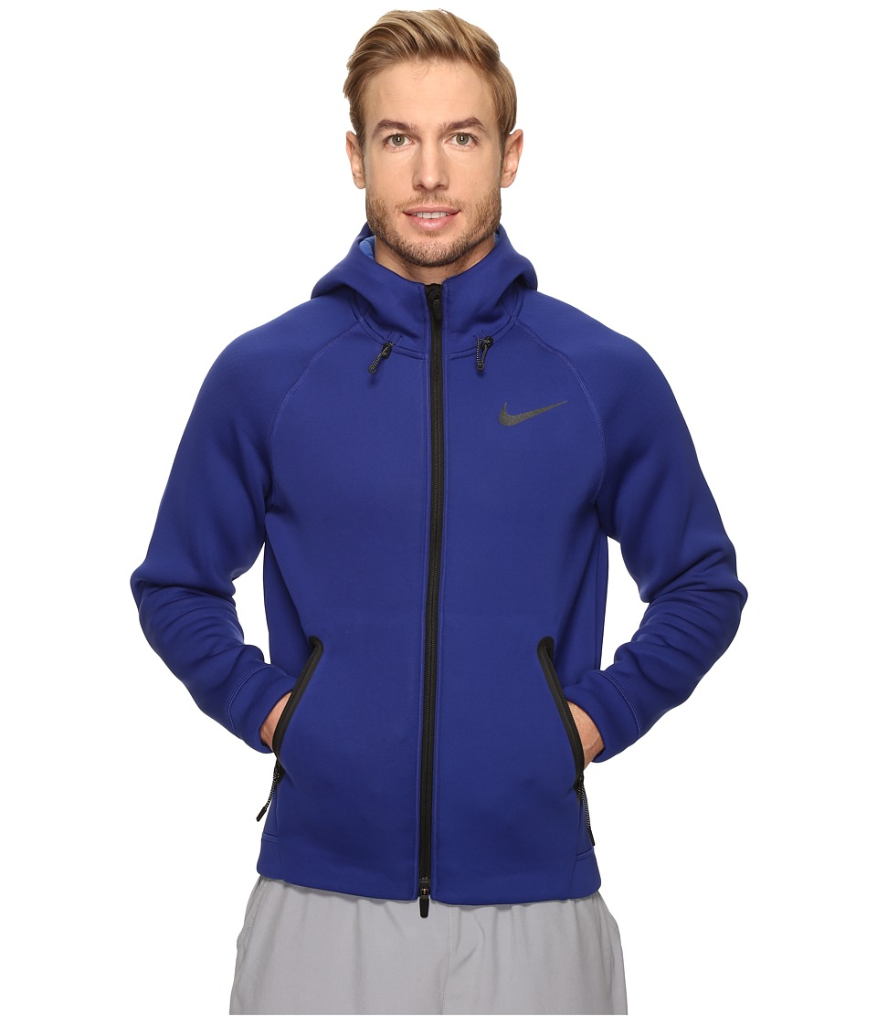 Nike - Therma-Sphere Max Training Hoodie (Deep Royal Blue/Game Royal/Black) Men's Sweatshirt