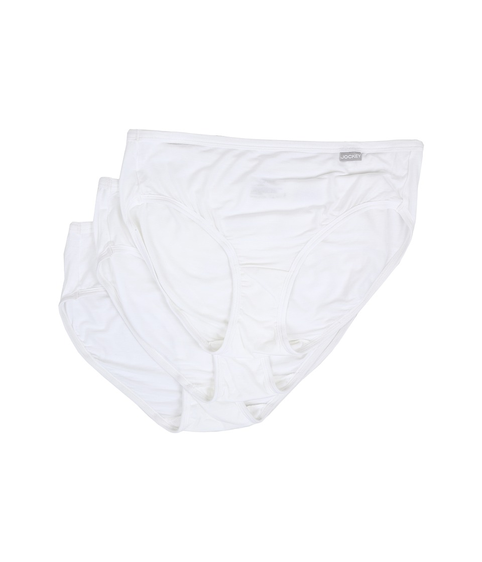 Jockey - Elance Supersoft Classic Fit Hipster (White) Women's Underwear