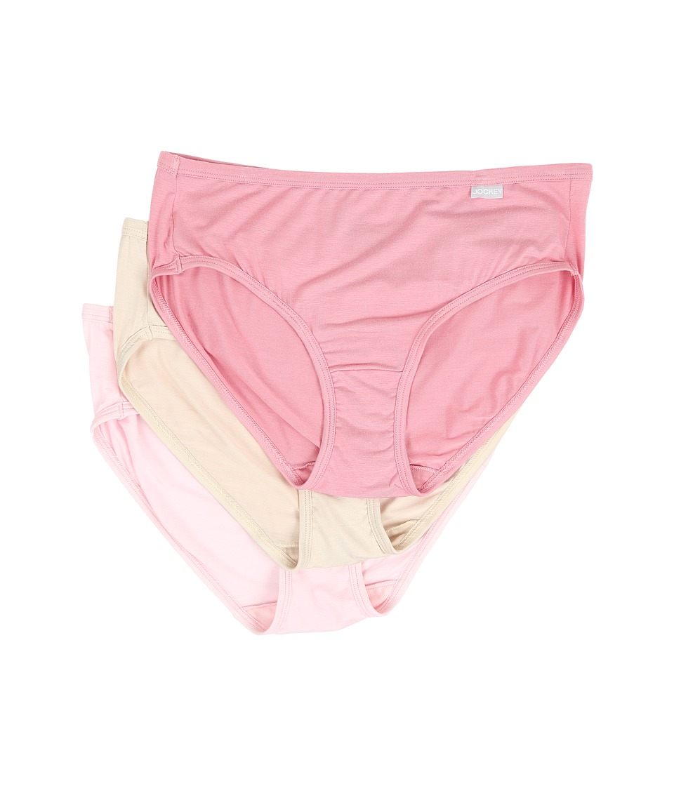 Jockey - Elance Supersoft Classic Fit Hipster (Pink/Scroll/Blush) Women's Underwear
