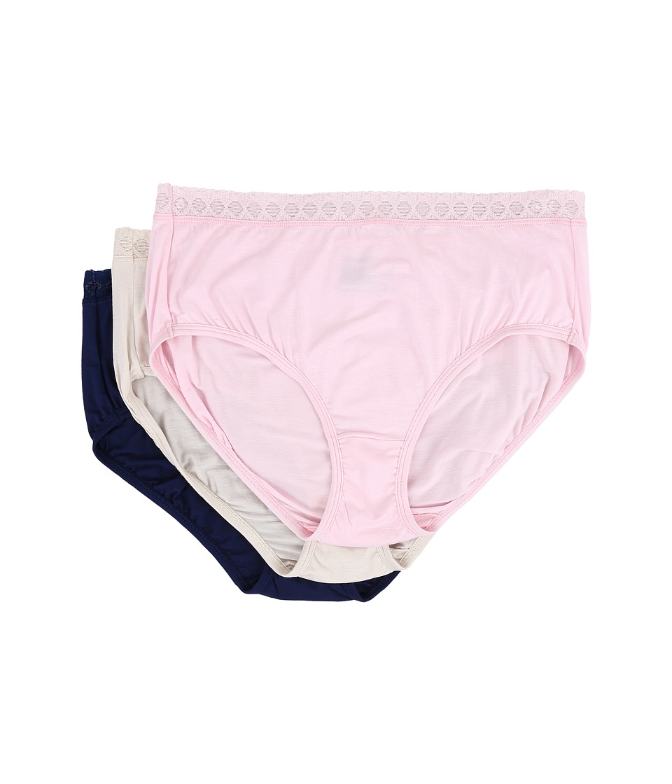 Jockey - Elance Supersoft Lace Classic Fit Brief (Pink/Shimmer/Navy) Women's Underwear