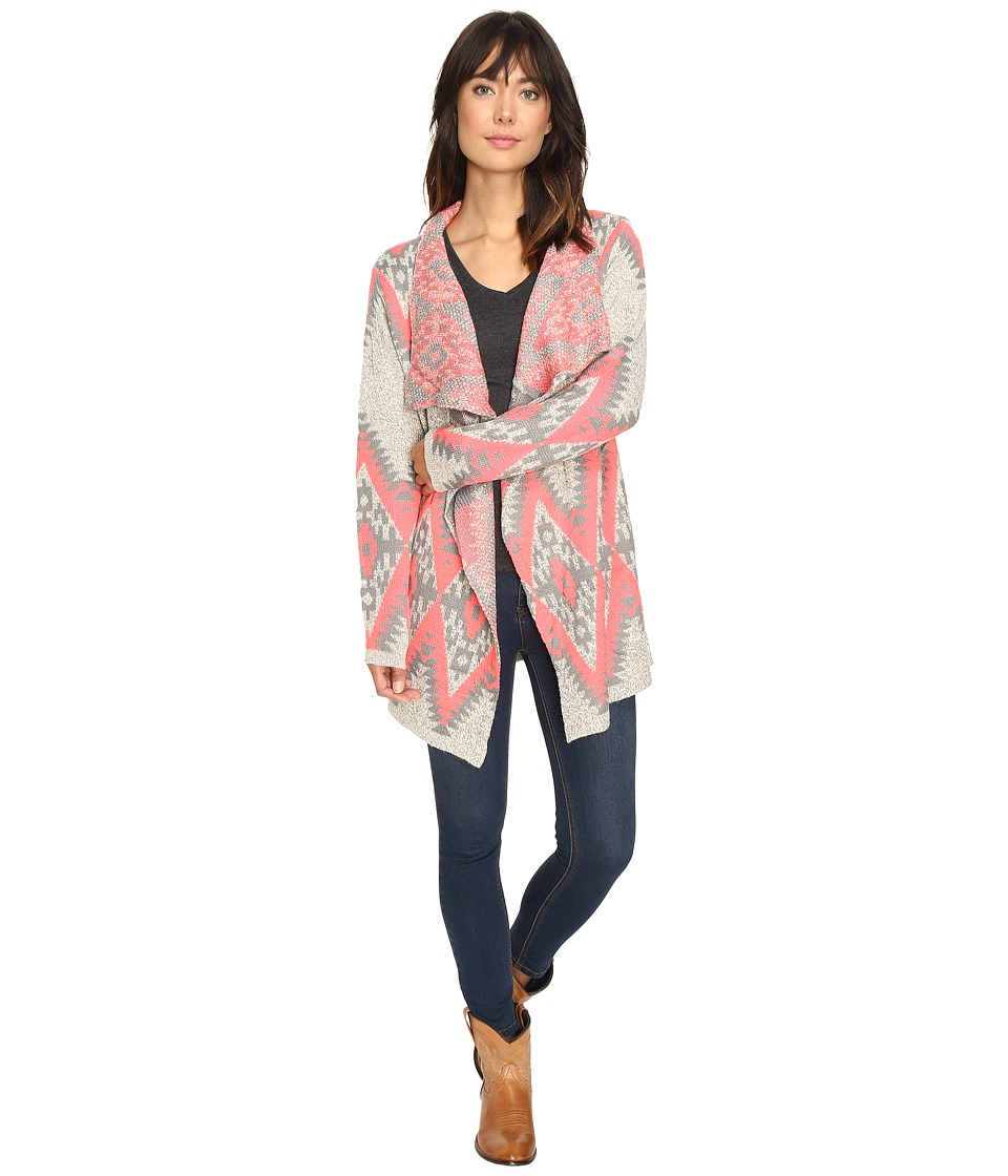 Petrol - Pink Grey Aztec Wrap (Multi) Women's Clothing