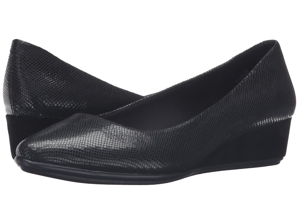 Easy Spirit - Avery (Black Reptile) Women's Shoes