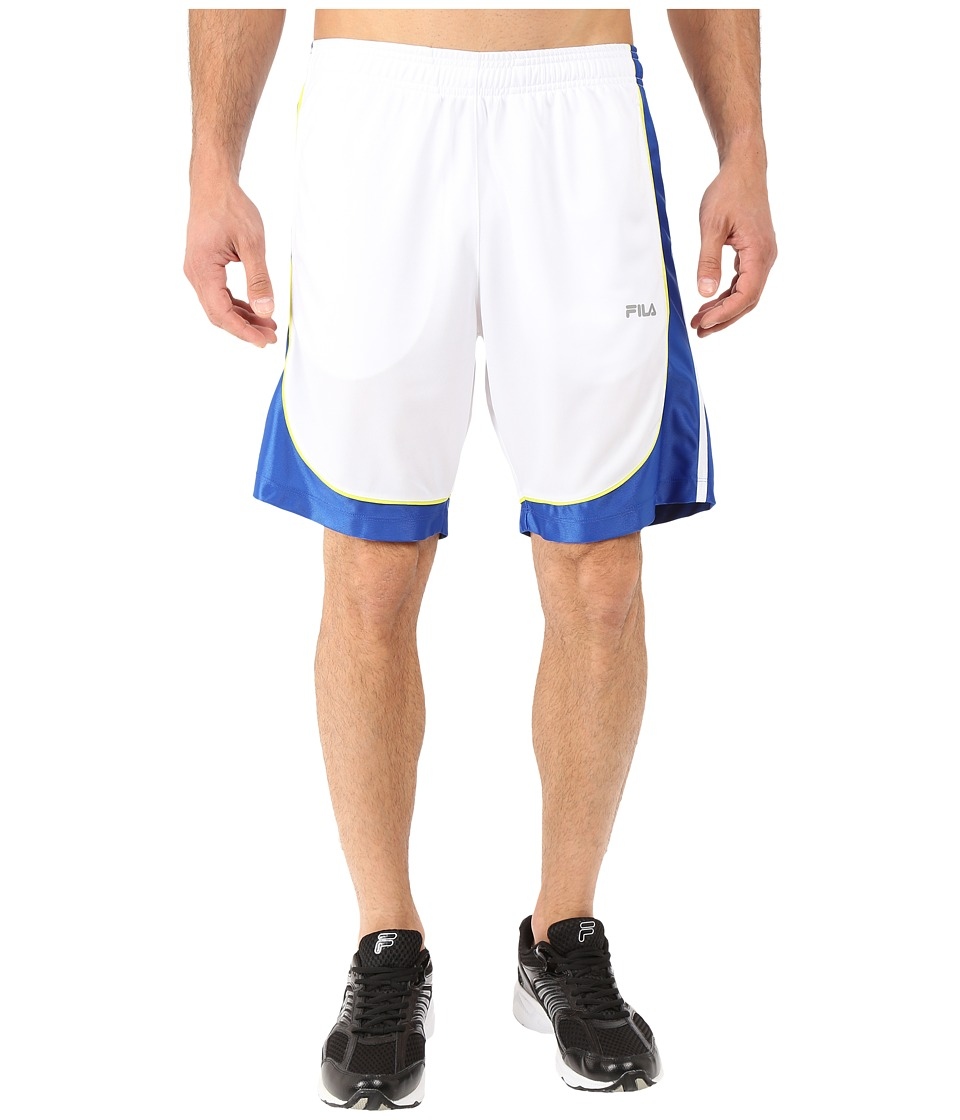 Fila - Wing Man Shorts (White/Royal Blue/Neon Green) Men's Shorts