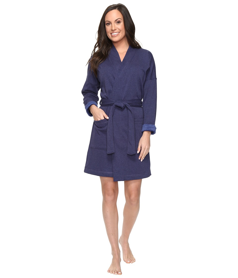 UGG - Braelyn Kimono Robe (Dark Pajama Blue Heather) Women's Robe