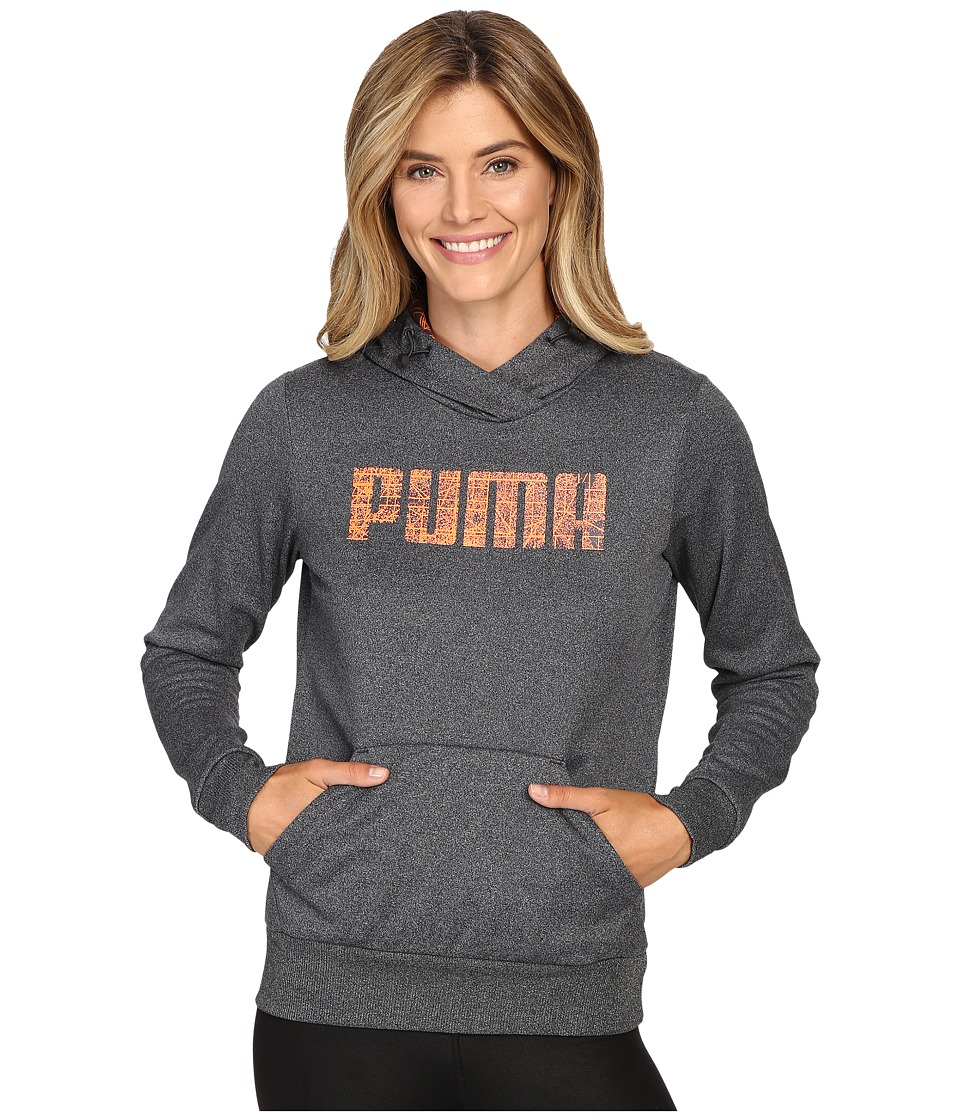 PUMA Elevated Poly Fleece Hoodie (Dark Gray Heather) Women