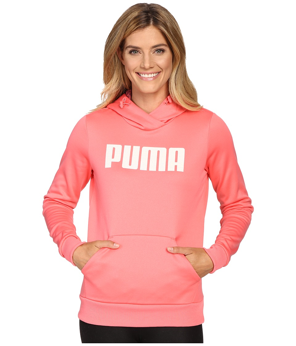 PUMA Elevated Poly Fleece Hoodie (Sunkist Coral) Women