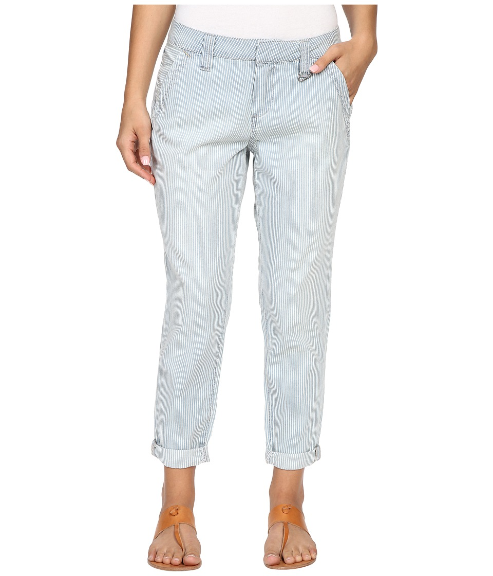 Jag Jeans Petite - Petite Dana Engineer Stripe Boyfriend Chino in Bleach (Bleach) Women's Casual Pants