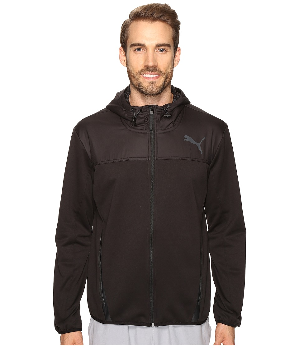 PUMA - PWRWarm Tech Fleece Full Zip (PUMA Black) Men's Clothing
