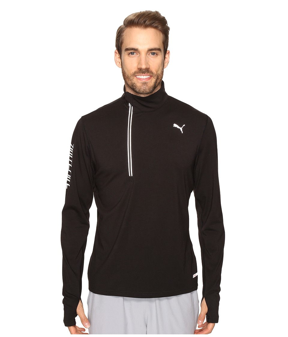 PUMA - Nightcat PWRWarm Top (PUMA Black) Men's Long Sleeve Pullover