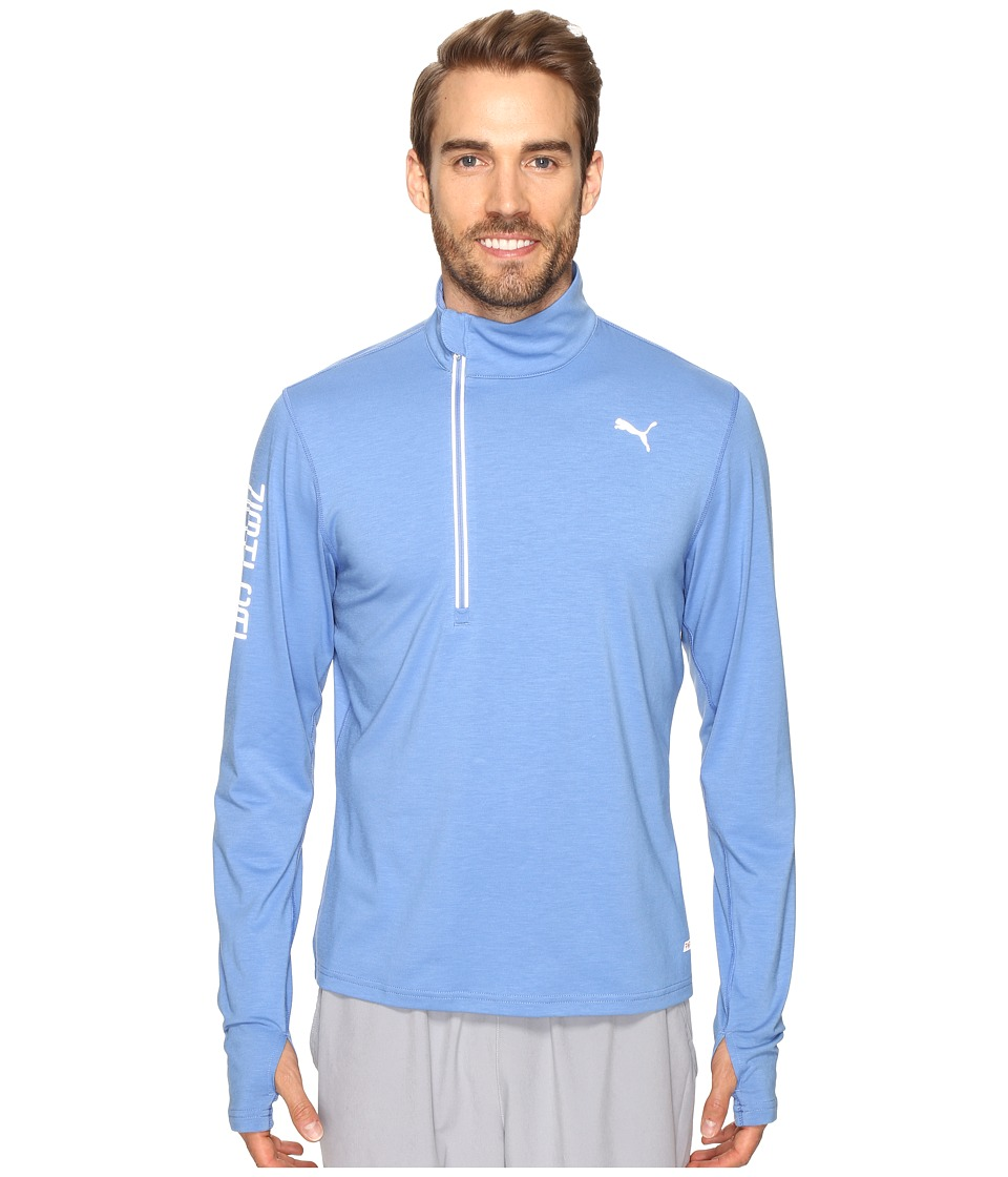 PUMA - Nightcat PWRWarm Top (Blue Yonder) Men's Long Sleeve Pullover