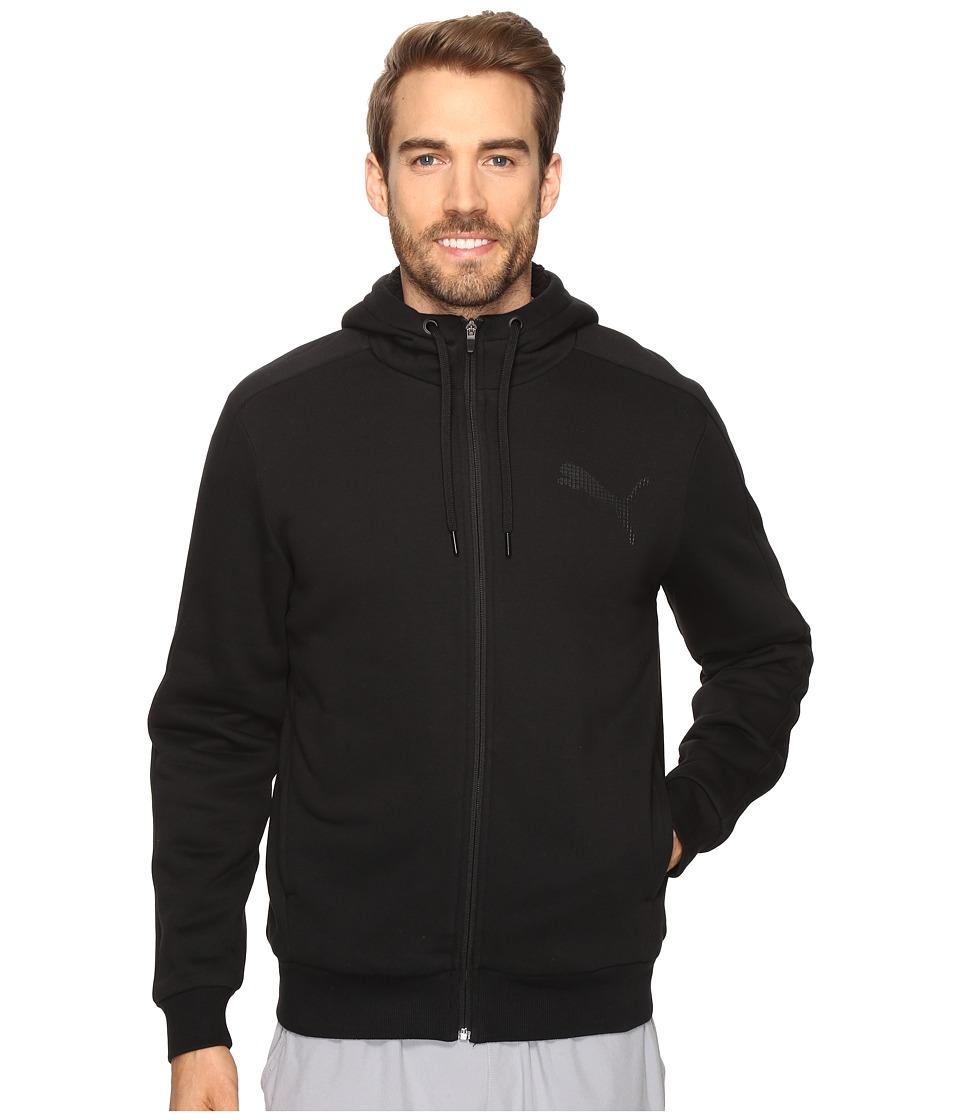 PUMA - P48 Core Sherpa Full Zip Hoodie (Cotton Black) Men's Sweatshirt