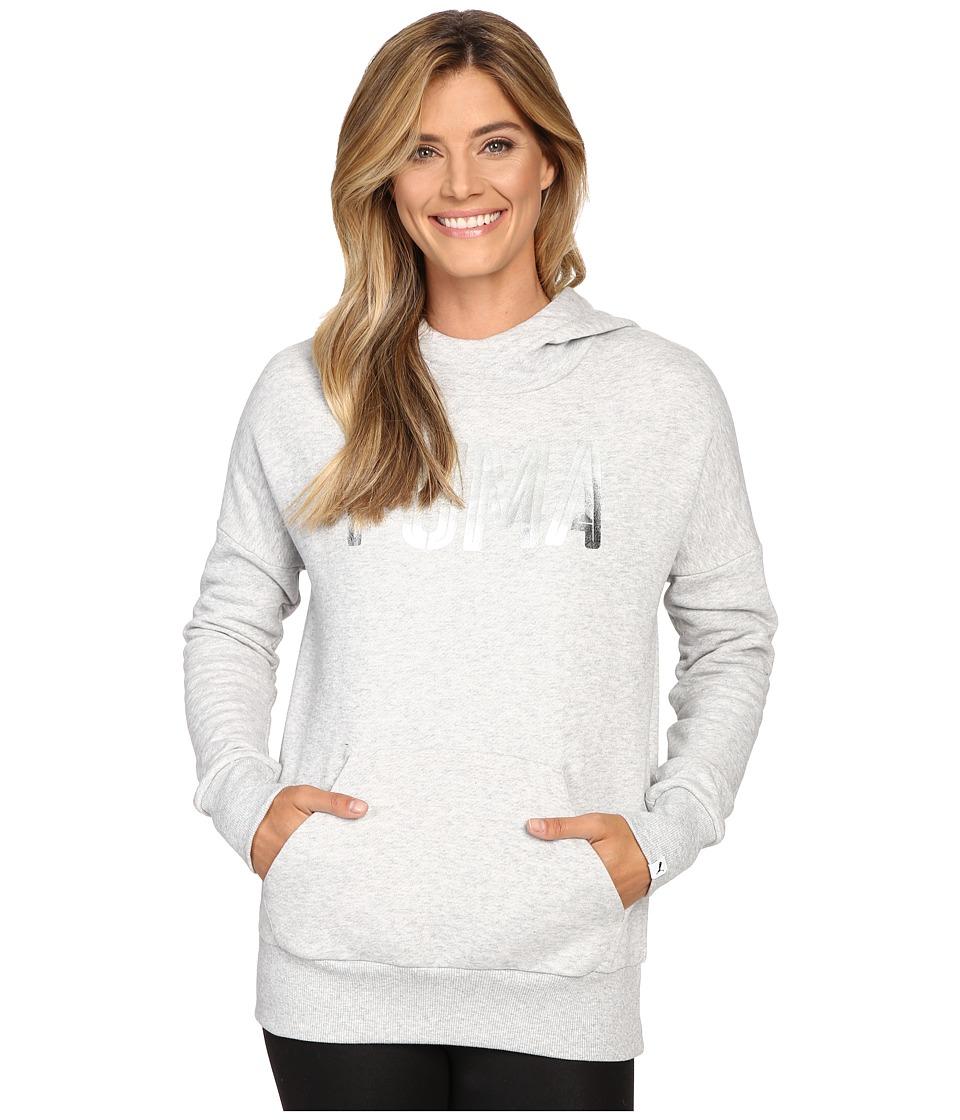 PUMA - Style Foil Hoodie (Light Gray Heather) Women's Sweatshirt