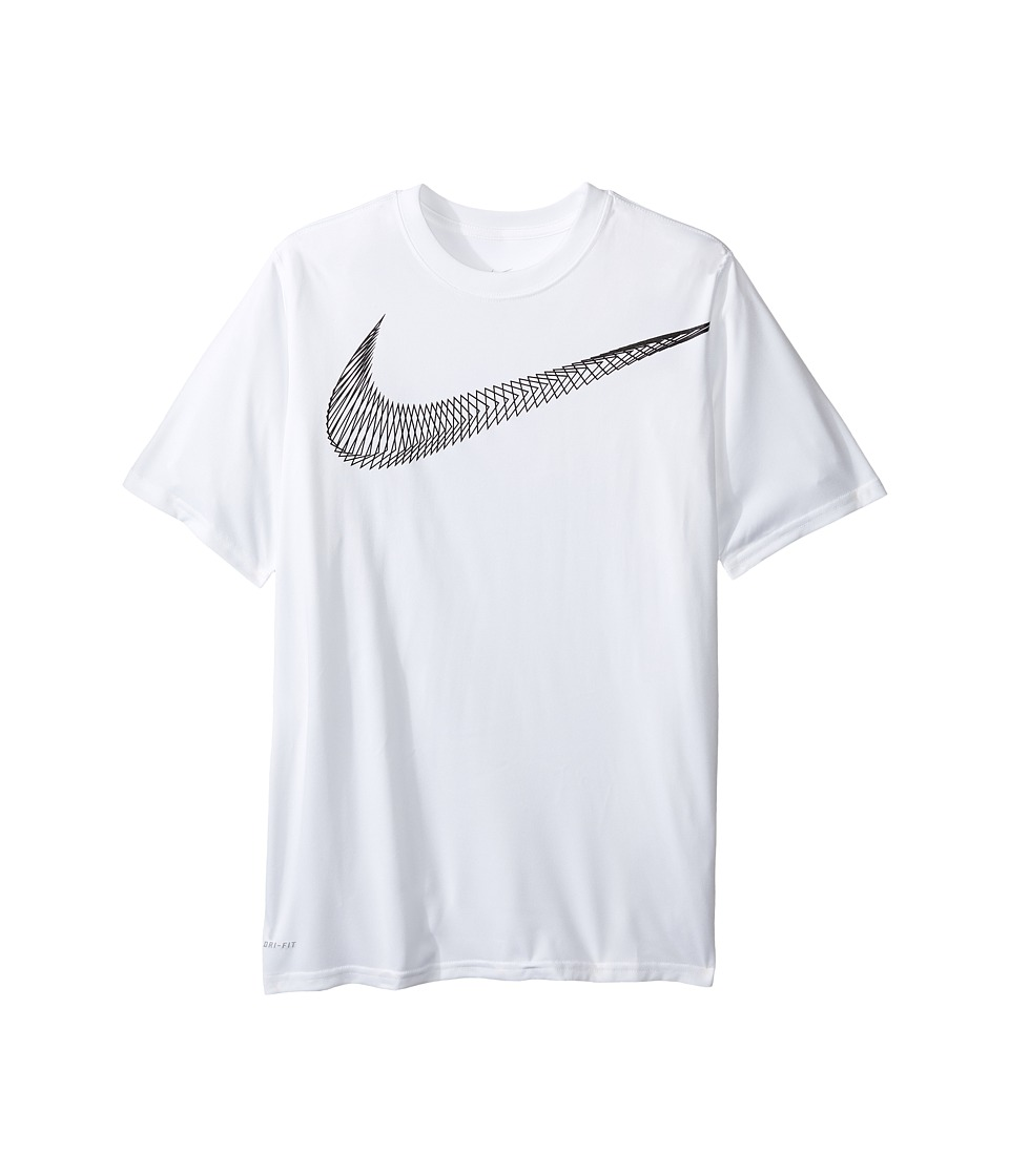 Nike Kids - Legend Graphic Tee (Little Kids/Big Kids) (White) Boy's T Shirt