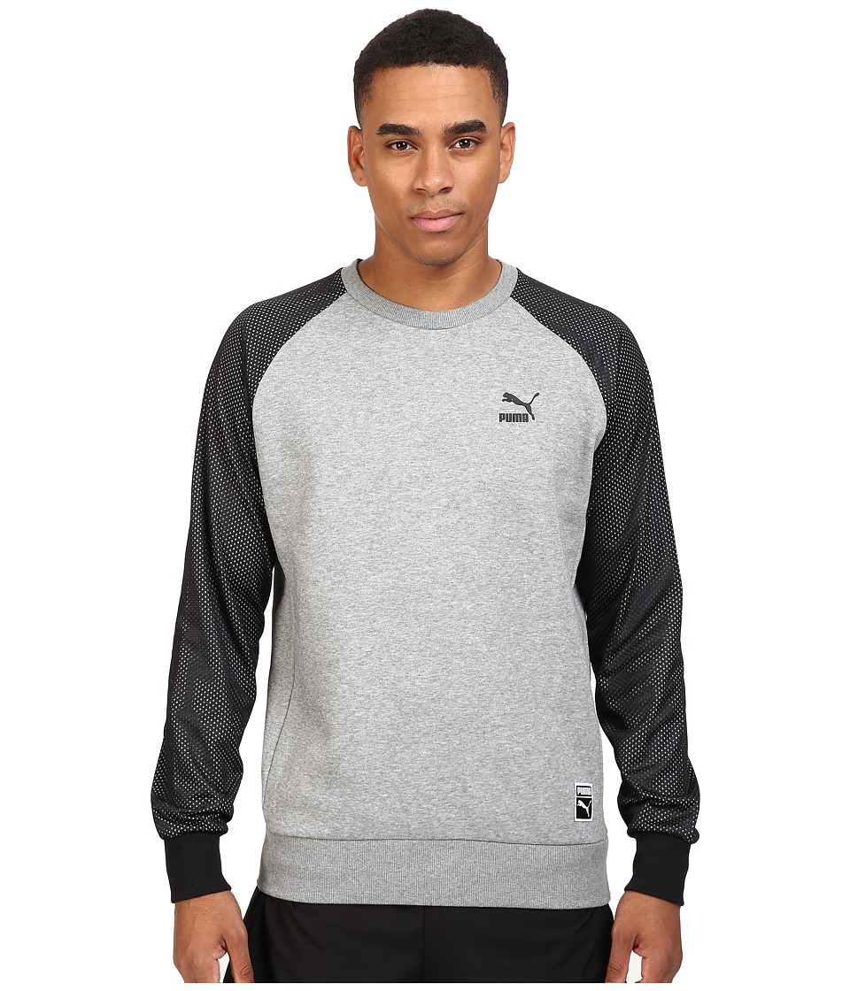PUMA - Basketball Crew Fleece (Medium Gray Heather) Men's Fleece