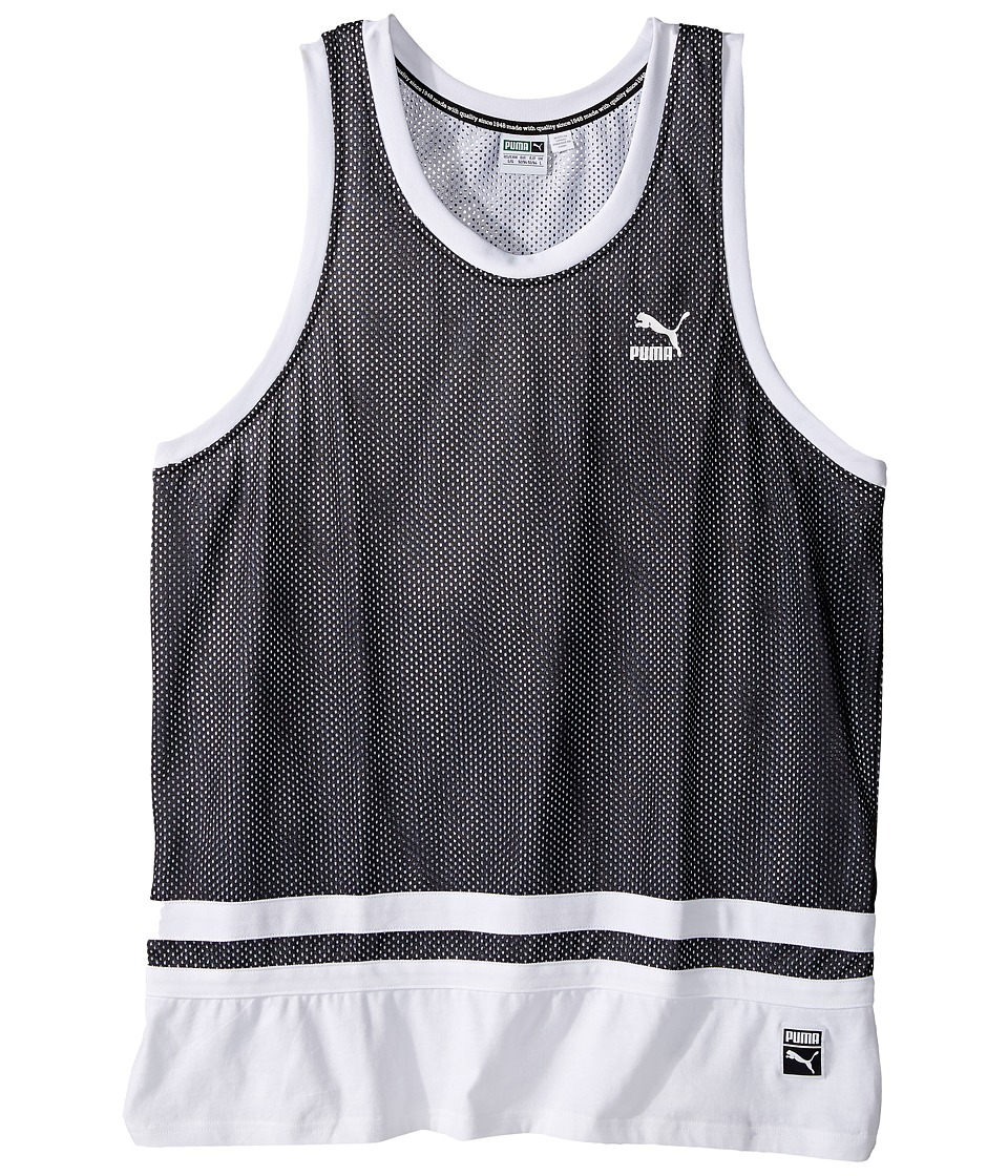 PUMA - Basketball Jersey (Cotton Black) Men's Clothing