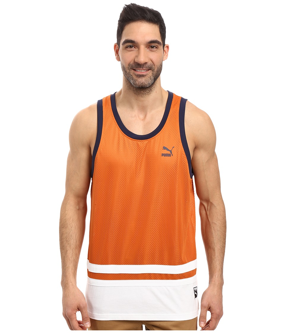 PUMA - Basketball Jersey (Burnt Orange) Men's Clothing