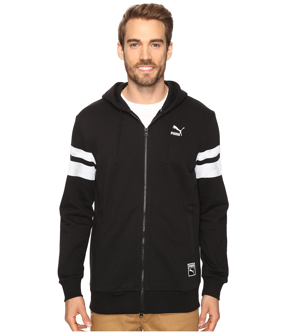 PUMA - Basketball Full Zip Hoodie (Cotton Black) Men's Sweatshirt