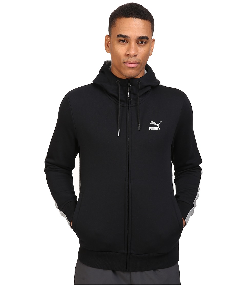 PUMA - Evo Core Full Zip (Cotton Black) Men's Clothing
