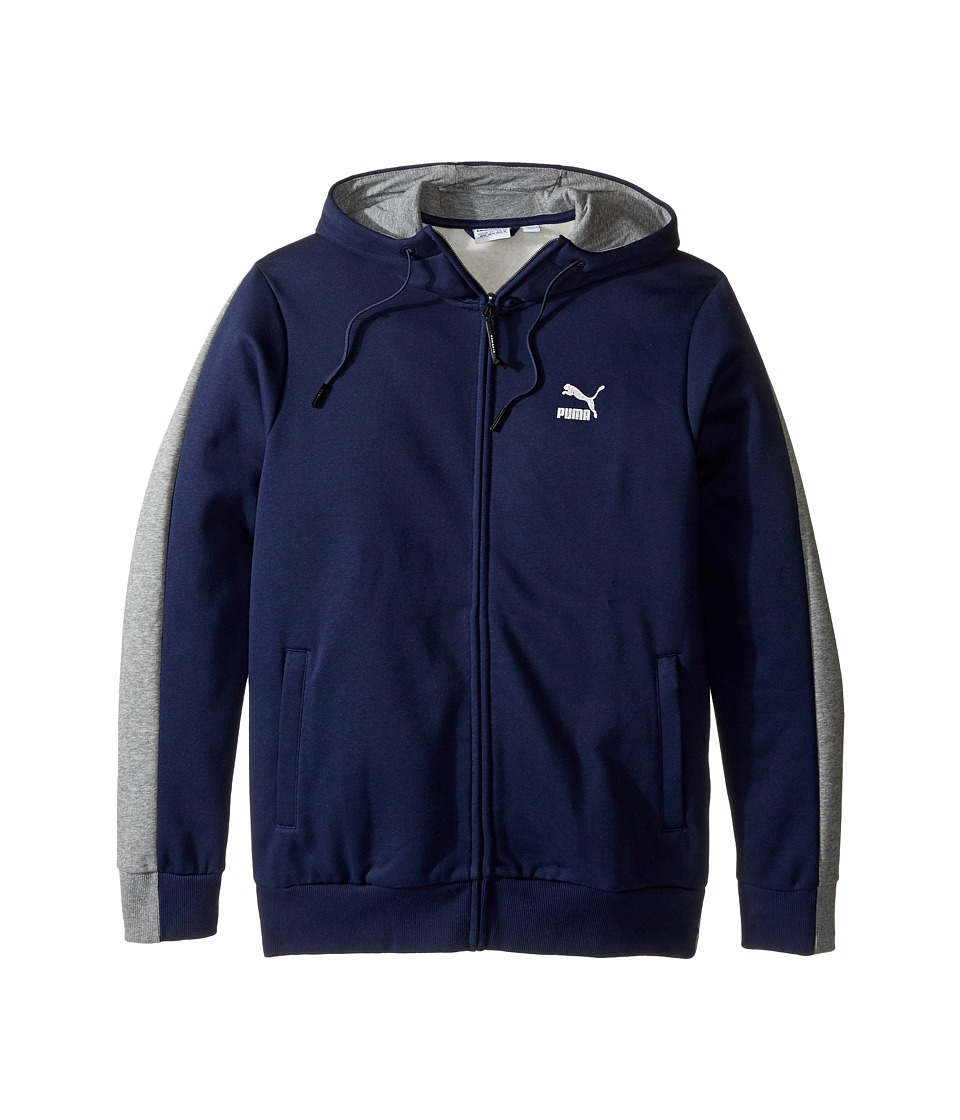 PUMA - Evo Core Full Zip (Peacoat) Men's Clothing