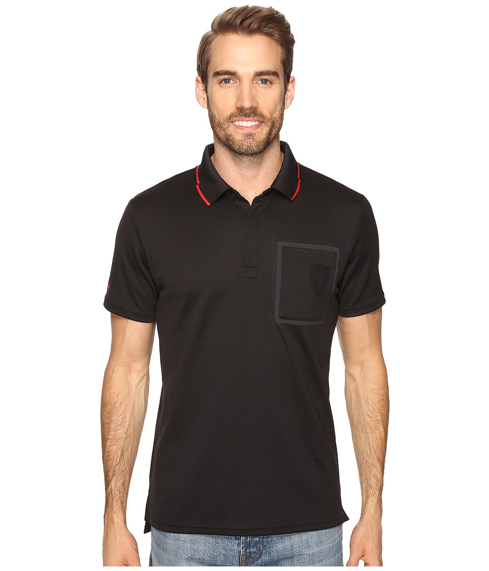 PUMA - Ferrari Polo II (Moonless Night) Men's Short Sleeve Pullover