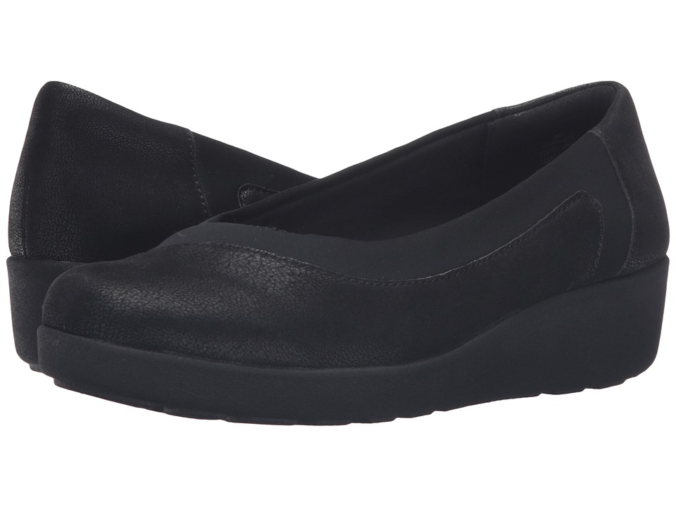 Easy Spirit - Kathleen (Black/Black Fabric) Women's Shoes