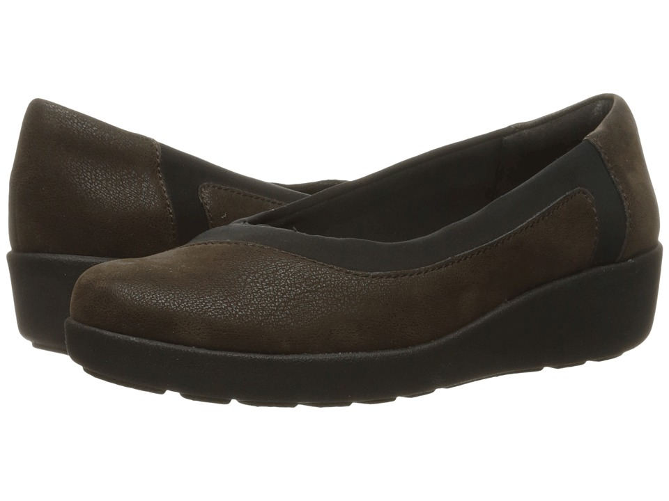 Easy Spirit Kathleen (Brown/Black Fabric) Women
