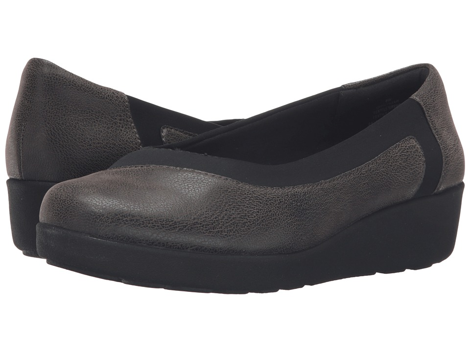 Easy Spirit Kathleen (Grey/Black Fabric) Women