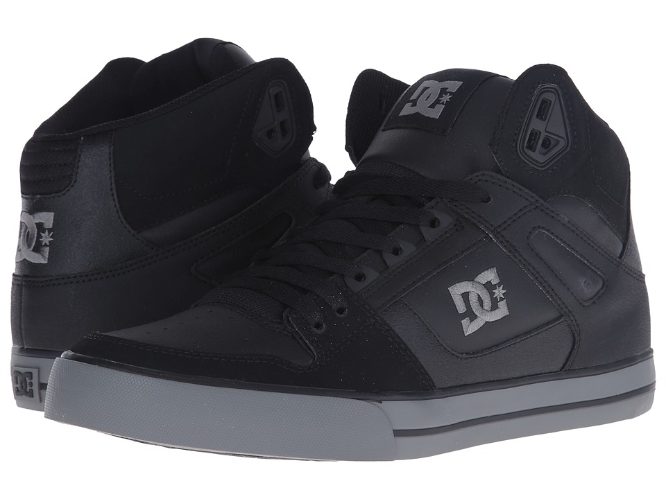 DC - Spartan Hi WC (Black/Grey) Men's Skate Shoes