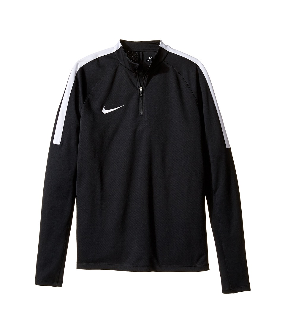 Nike Kids - Squad Long Sleeve 1/4 Zip Soccer Drill Top (Little Kids/Big Kids) (Black/White/White) Boy's Clothing