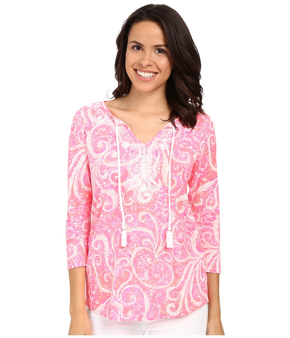 Lilly Pulitzer - Holly Top (Pink Pout PBJ) Women's Clothing
