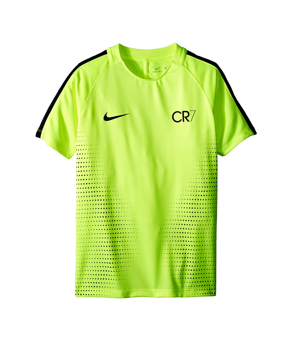 Nike Kids - Dry Squad CR7 Short Sleeve Soccer Top (Little Kids/Big Kids) (Volt/Seaweed/Volt) Boy's Clothing