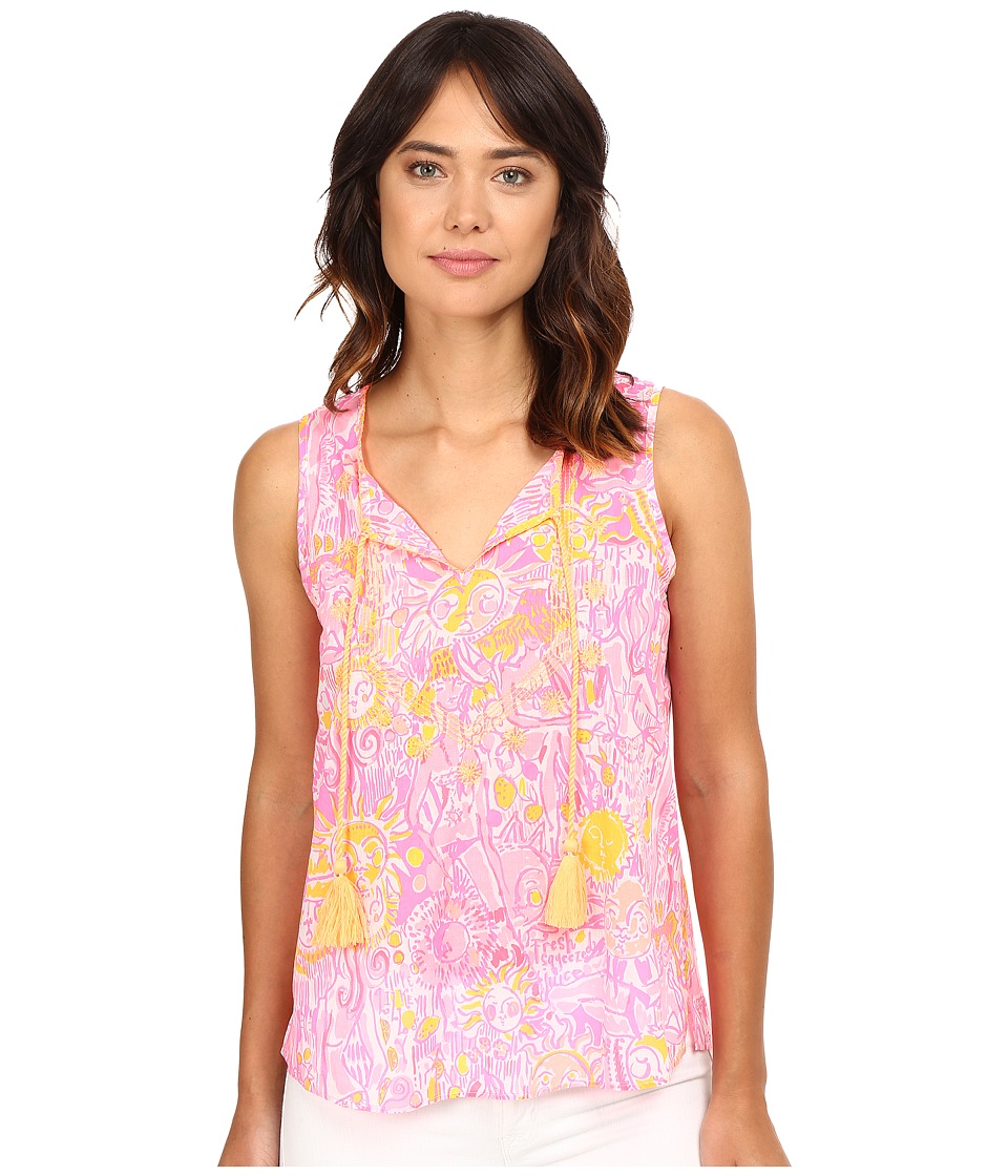 Lilly Pulitzer - Lauren Top (Pink Pout More Kinis In The Keys) Women's Sleeveless