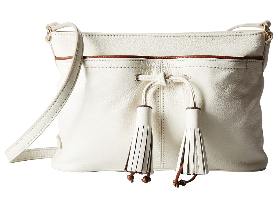 Cole Haan - Reiley Tassel Crossbody (Ivory/Woodbury) Cross Body Handbags