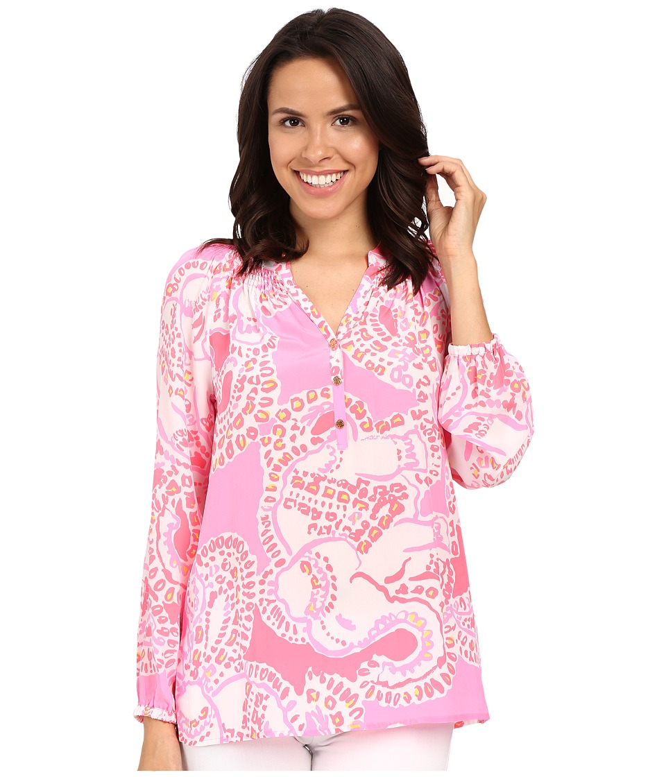 Lilly Pulitzer - Elsa Top (Hot Coral Trunk In Love) Women's Blouse