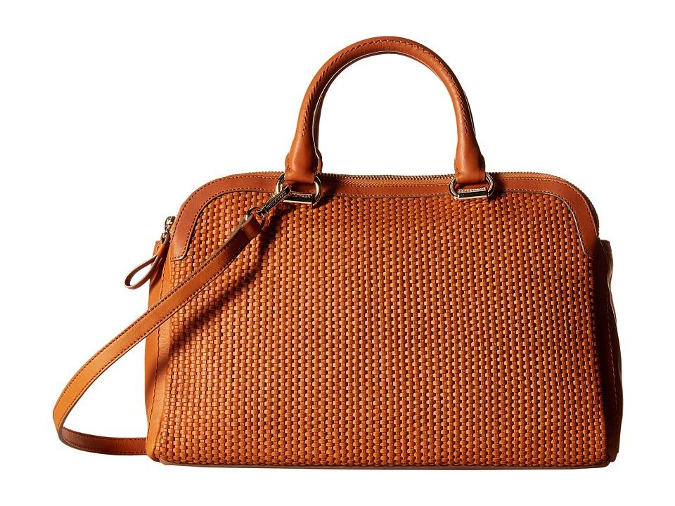 Cole Haan - Leesa Weave Double Zip Satchel (Acorn) Satchel Handbags