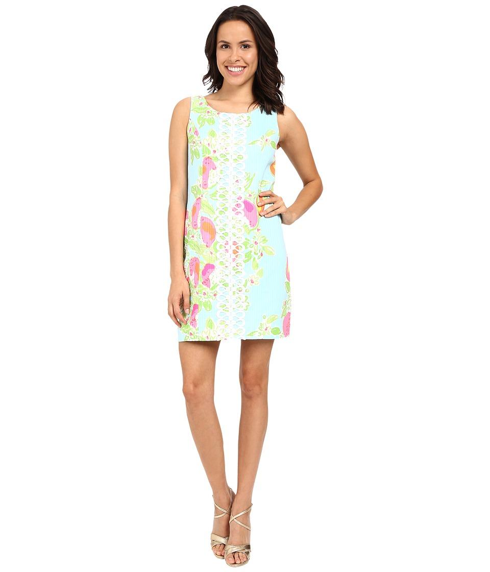 Lilly Pulitzer - Cathy Shift Dress (Pool Blue Pink Lemonade) Women's Dress