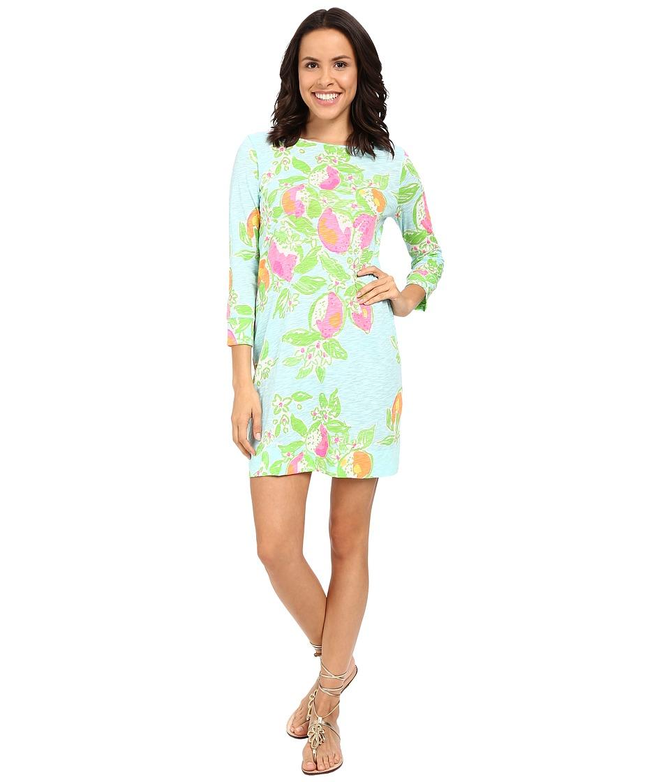 Lilly Pulitzer - Marlowe Dress (Pool Blue Pink Lemonade) Women's Dress