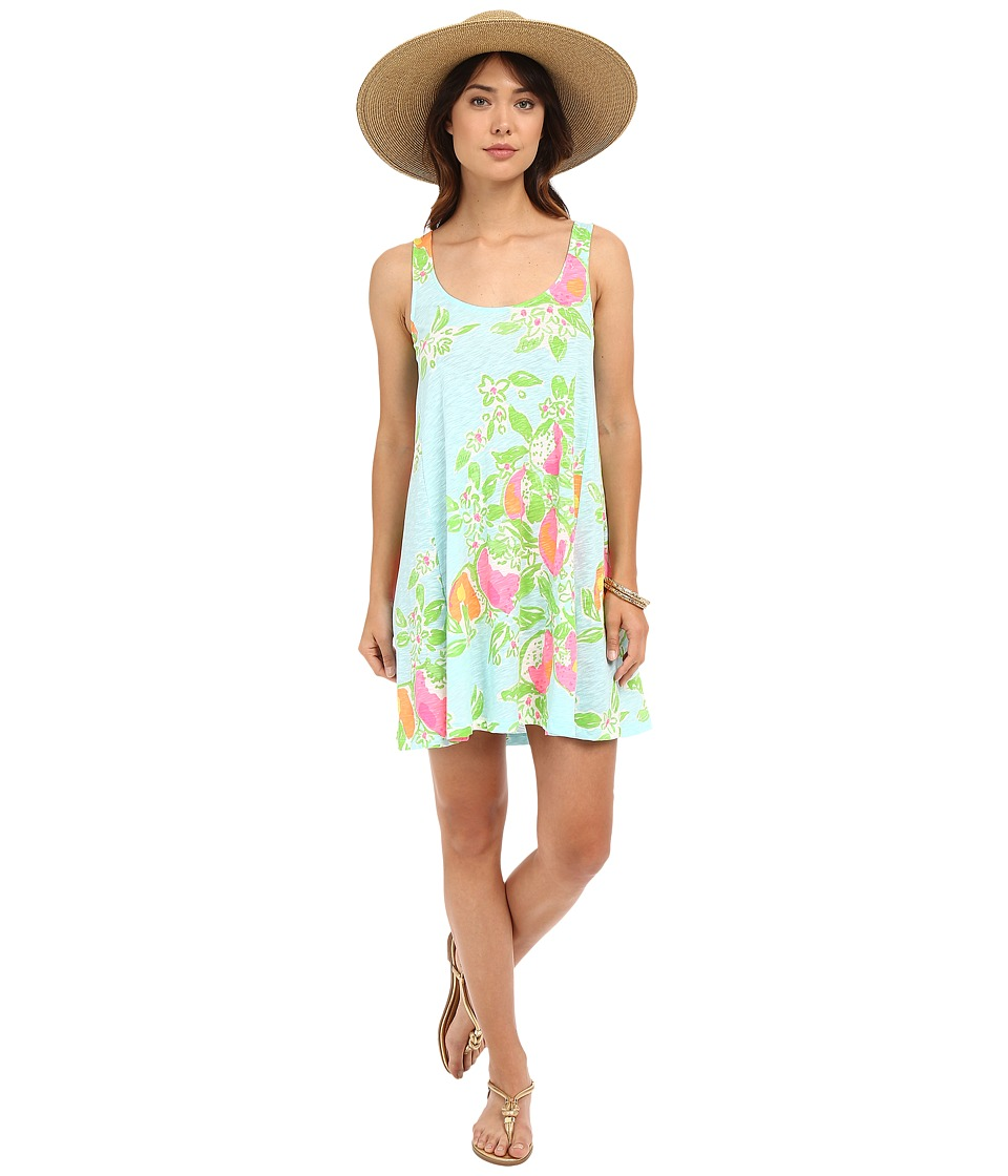 Lilly Pulitzer - Carmel Dress (Pool Blue Pink Lemonade) Women's Dress
