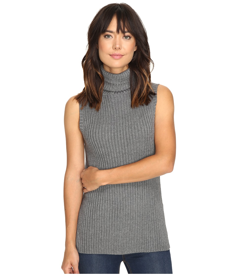 kensie - Cotton Blend Sweater KS9U5537 (Heather Steel Grey) Women's Sweater