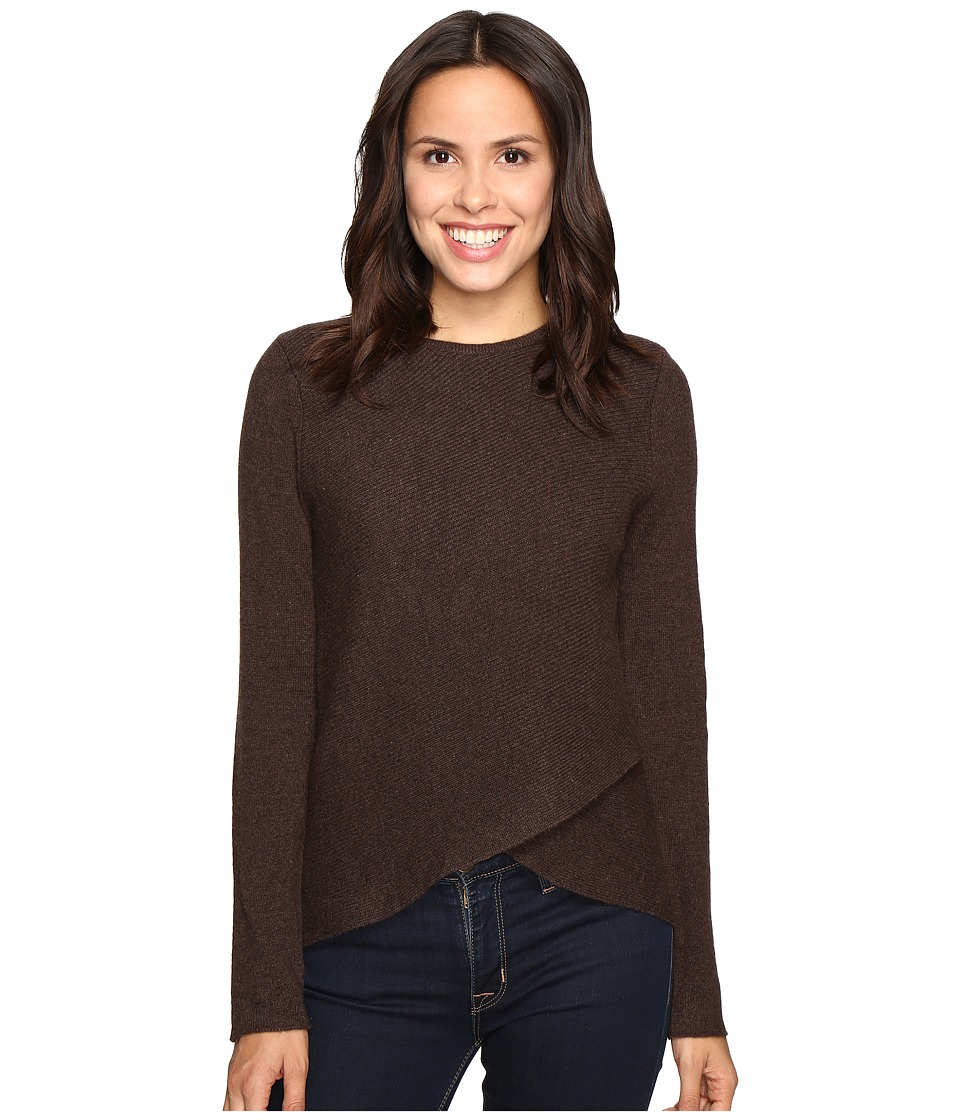 Christin Michaels - Louisa Cross Front Crew Neck Cashmere Sweater (Bittersweet) Women's Sweater